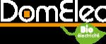 Domelec Logo Blanc - expert de l'électricité dans les 2 Savoie - Annecy, Rumilly
